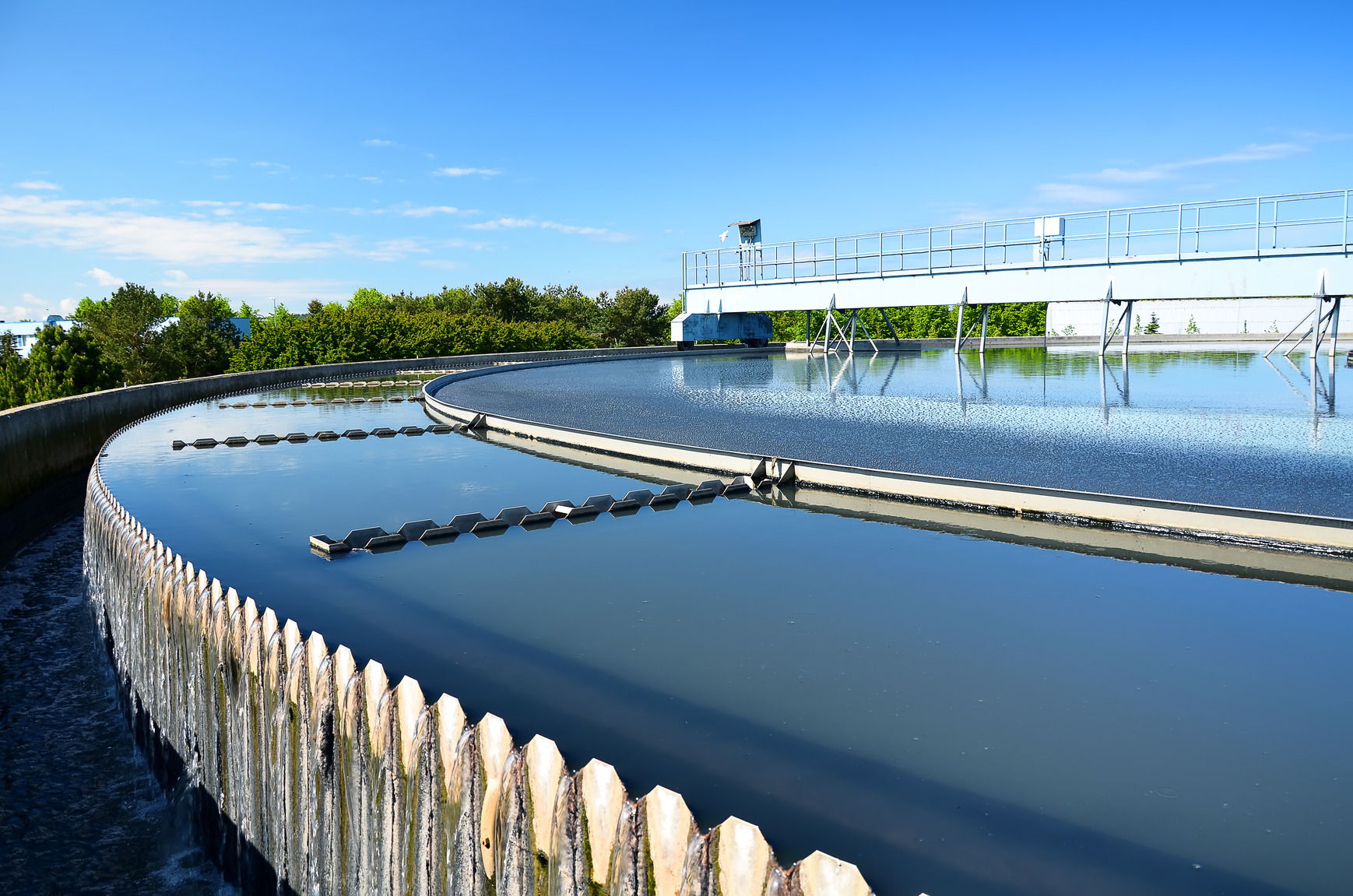 Modern urban wastewater treatment plant.